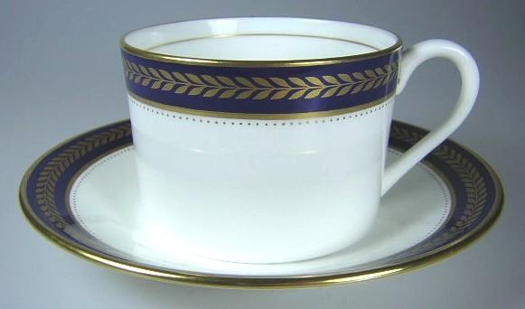 Make sure your browser can show photos and reload this page to see Coalport China Blue Wheat  Cup and saucer set  flat. 2 1/4
