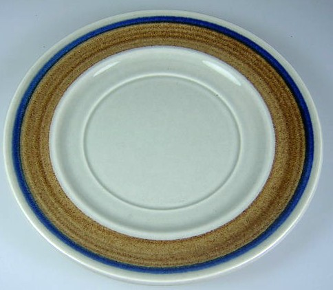 Make sure your browser can show photos and reload this page to see Metlox-Poppytrail-Vernon Pottery Bandero Saucer only 6