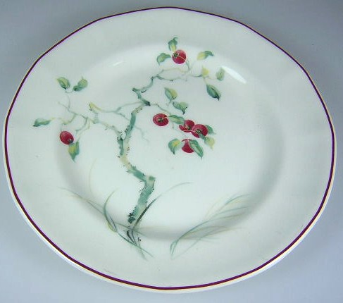Make sure your browser can show photos and reload this page to see Adams China Persimmon  Bread and butter plate 6 1/8
