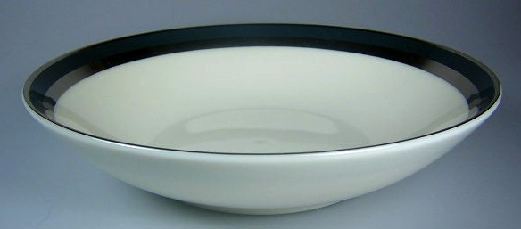 Make sure your browser can show photos and reload this page to see Gorham China Black Contessa Cereal bowl 6 5/8