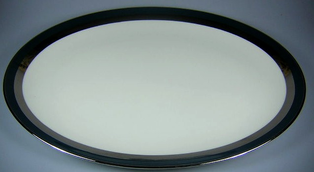 Make sure your browser can show photos and reload this page to see Gorham China Black Contessa Platter, large 16