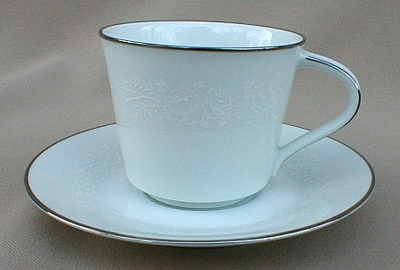 Make sure your browser can show photos and reload this page to see Noritake China Reina 6450q/64 Cup and saucer set  TALL STYLE 2 3/4
