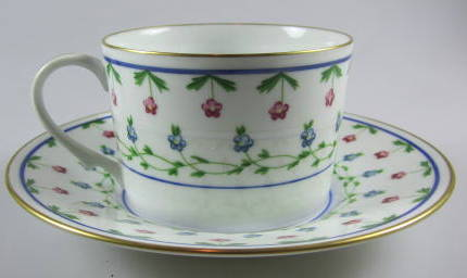 Make sure your browser can show photos and reload this page to see Ceralene Limoges La Fayette Cup and saucer set pre-owned