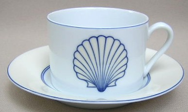 Make sure your browser can show photos and reload this page to see Fitz & Floyd China Nobilis Cup and saucer set 3 1/8