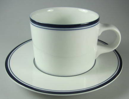Make sure your browser can show photos and reload this page to see Dansk China Allegro - Blue Cup and saucer set cup made in sri lanka, saucer made in thailand
