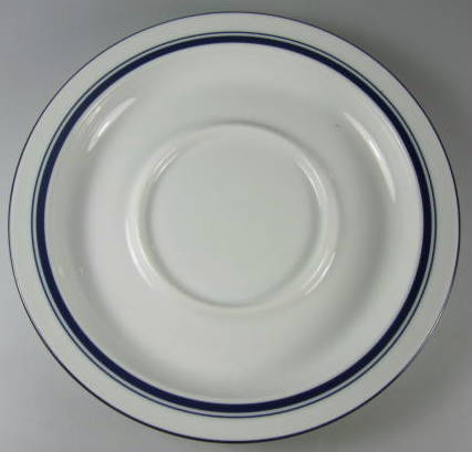 Make sure your browser can show photos and reload this page to see Dansk China Christianshavn - Blue Saucer only thailand 7 1/4