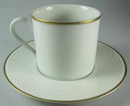 Make sure your browser can show photos and reload this page to see Dansk China Brocade Gold Cup and saucer set Made in Japan
