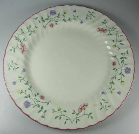 Make sure your browser can show photos and reload this page to see Johnson Brothers Dinnerware  Summer Chintz Dinner plate 10 1/2