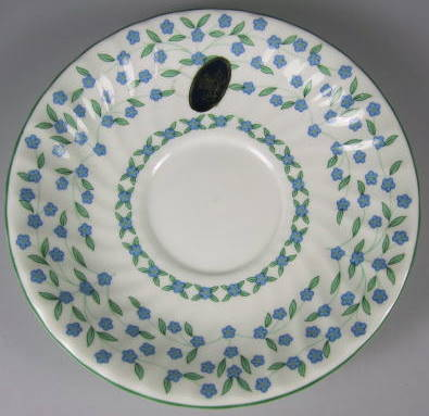 Make sure your browser can show photos and reload this page to see Aynsley & Sons Forget-Me-Not Saucer only 5 1/2