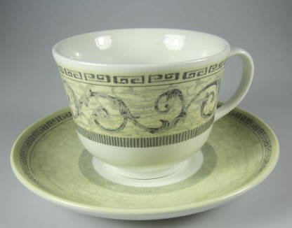 Make sure your browser can show photos and reload this page to see Johnson Brothers Dinnerware  Acanthus Cup and saucer set CREAM (3 3/8