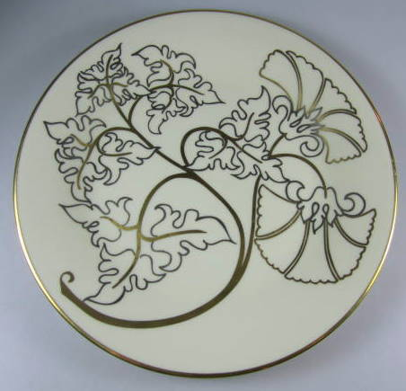 Make sure your browser can show photos and reload this page to see Pickard China Chardonnay Accent plate 8 3/8