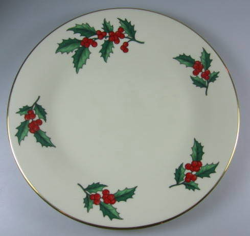 Make sure your browser can show photos and reload this page to see Pickard China Christmas - Gold  Accent plate 8 3/8