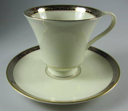 Make sure your browser can show photos and reload this page to see Pickard China Illusion 1085 Cup and saucer set
