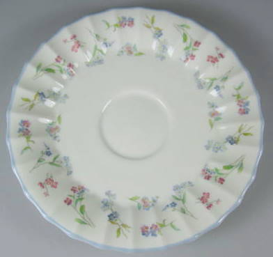 Make sure your browser can show photos and reload this page to see Royal Worcester China Forget-Me-Not - Blue Saucer only 5 7/8