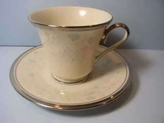 Make sure your browser can show photos and reload this page to see Lenox China Nicole Cup and saucer set