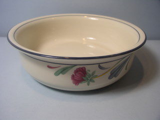 Make sure your browser can show photos and reload this page to see Lenox China Poppies On Blue Cereal bowl --6 1/4