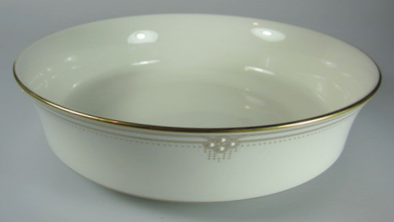 Make sure your browser can show photos and reload this page to see Noritake China Satin Gown 7730 Round vegetable  8 1/4