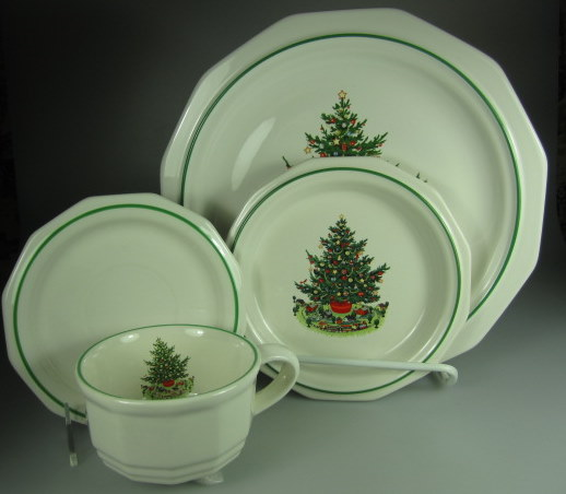 Make sure your browser can show photos and reload this page to see Pfaltzgraff China Christmas Heritage Place setting 4-piece dinner 10 1/8