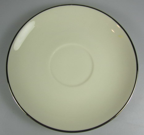 Make sure your browser can show photos and reload this page to see Flintridge China Delrose - Platinum Trim, Rim Saucer only preowned