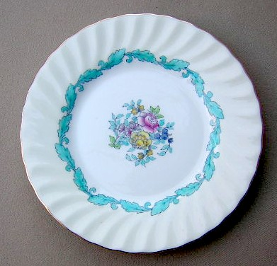 Make sure your browser can show photos and reload this page to see Minton China Ardmore - Blue S363 Dinner plate 10 5/8