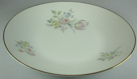 Make sure your browser can show photos and reload this page to see Hutschenreuther China Augsburg 8711 Soup bowl, coupe shape   8 7/8