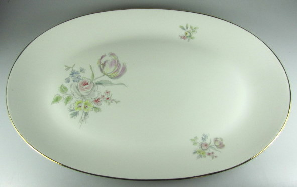 Make sure your browser can show photos and reload this page to see Hutschenreuther China Augsburg 8711 Platter, large   15 1/4