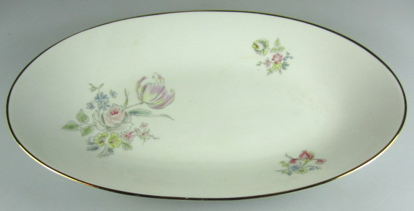 Make sure your browser can show photos and reload this page to see Hutschenreuther China Augsburg 8711 Relish  /Olive dish  9 1/4