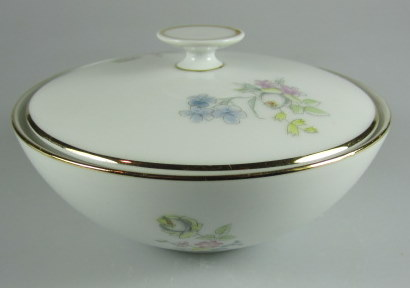Make sure your browser can show photos and reload this page to see Hutschenreuther China Augsburg 8711 Sugar bowl with lid
