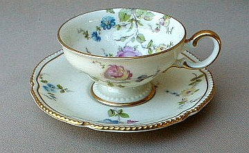 Make sure your browser can show photos and reload this page to see Castleton - USA China Sunnyvale  Demitasse cup and saucer  1 5/8