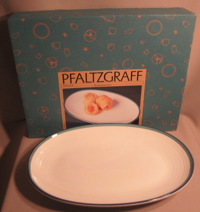 Make sure your browser can show photos and reload this page to see Pfaltzgraff China Northwinds Platter, medium 14 1/2