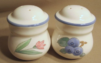 Make sure your browser can show photos and reload this page to see Pfaltzgraff China Summer Garden Salt and Pepper set no box