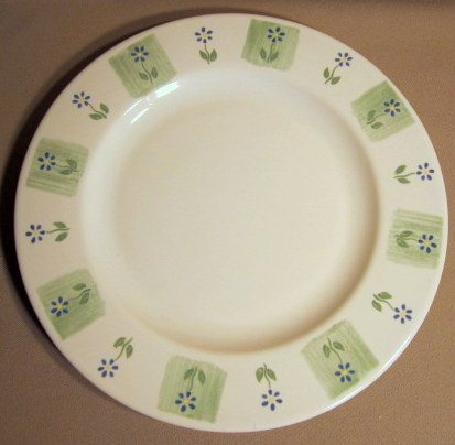 Make sure your browser can show photos and reload this page to see Pfaltzgraff China Cloverhill Floral Dinner plate