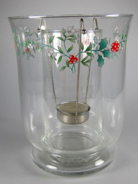 Make sure your browser can show photos and reload this page to see Pfaltzgraff China Winterberry Candlestick  (double lighting)