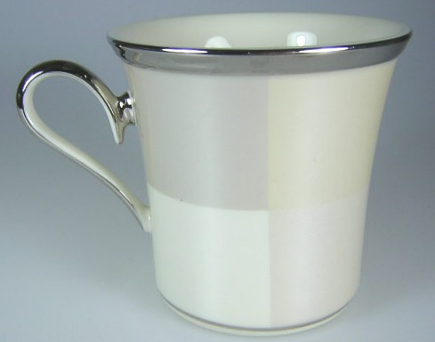 Make sure your browser can show photos and reload this page to see Lenox China Ivory Frost Mug  3 1/2