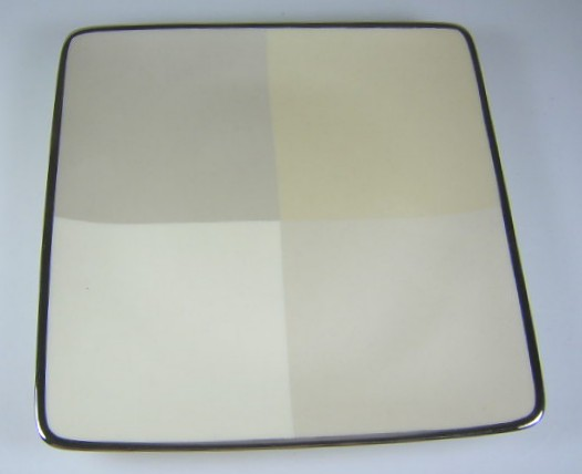 Make sure your browser can show photos and reload this page to see Lenox China Ivory Frost Salad plate, square  SQUARE 7 5/8