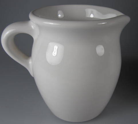 Make sure your browser can show photos and reload this page to see Pfaltzgraff China Simply White Circles Creamer
