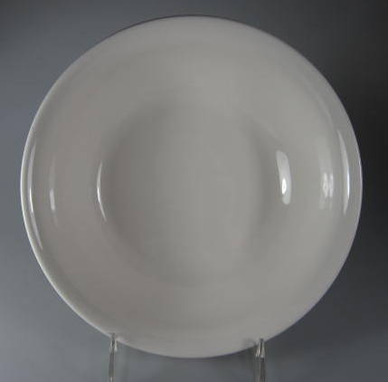 Make sure your browser can show photos and reload this page to see Pfaltzgraff China Simply White Circles Round vegetable  -gently used 8 5/8
