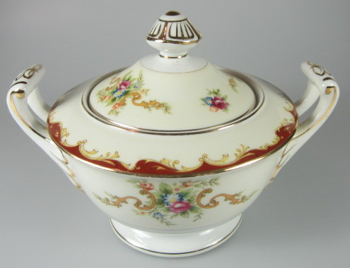 Make sure your browser can show photos and reload this page to see Harmony House China Wembley  Sugar bowl with lid