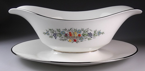 Make sure your browser can show photos and reload this page to see Oxford (Div Of Lenox) China Carlyle Gravy-attached stand