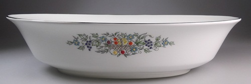 Make sure your browser can show photos and reload this page to see Oxford (Div Of Lenox) China Carlyle Oval vegetable, large 10 1/8