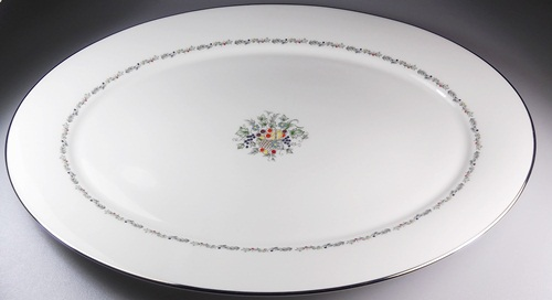Make sure your browser can show photos and reload this page to see Oxford (Div Of Lenox) China Carlyle Platter, medium 16 1/8