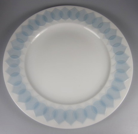 Make sure your browser can show photos and reload this page to see Rosenthal - Continental China Lotus - Azure Dinner plate  10 1/2 (larger dinner)