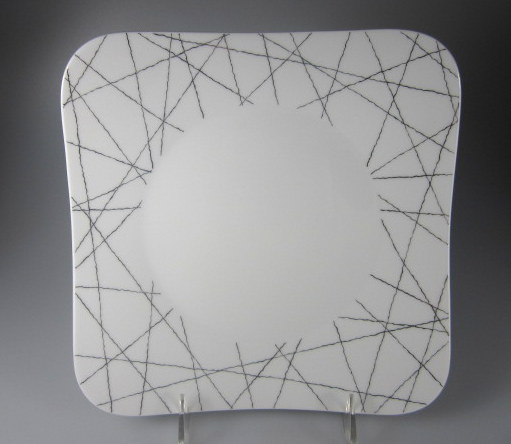 Make sure your browser can show photos and reload this page to see Rosenthal - Continental China Free Spirit Stars Salad plate, square 8 3/8