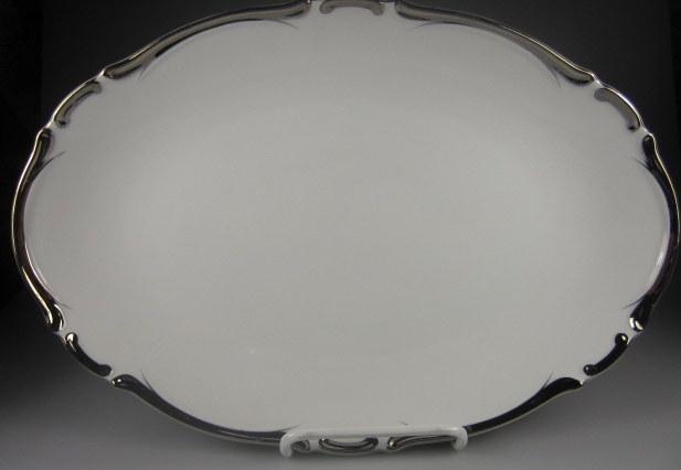 Make sure your browser can show photos and reload this page to see Harmony House China Starlight 3656 Platter, small  12 5/8