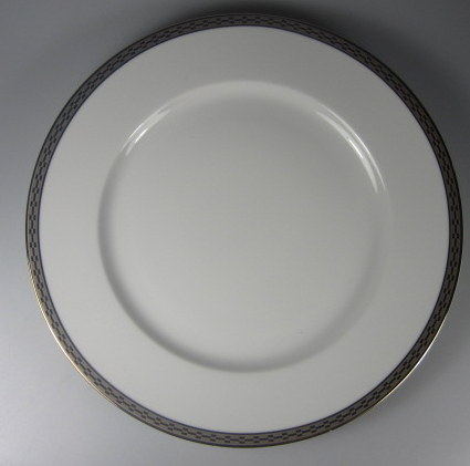 Make sure your browser can show photos and reload this page to see Rosenthal - Continental China Crown-Platinum Dinner plate 10 1/4