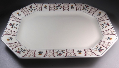 Make sure your browser can show photos and reload this page to see Adams China Anita Platter, medium 13 7/8