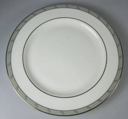 Make sure your browser can show photos and reload this page to see Gorham China Gatehouse Platinum Bread and butter plate 6 3/8