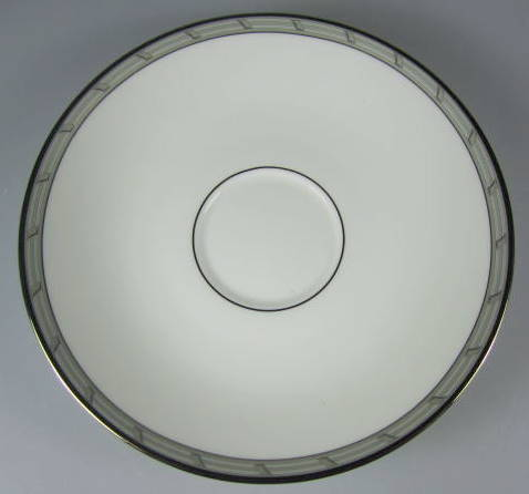 Make sure your browser can show photos and reload this page to see Gorham China Gatehouse Platinum Saucer only 6