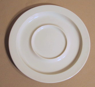 Make sure your browser can show photos and reload this page to see Dansk China Bisserup White Saucer only (Japan) 7 1/4
