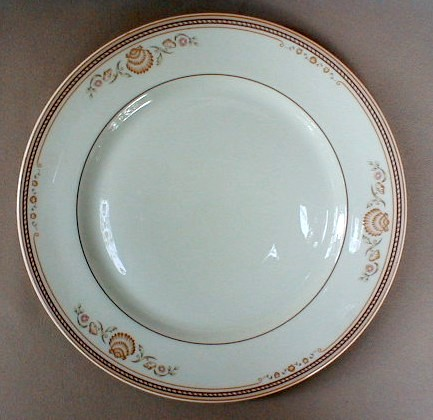 Make sure your browser can show photos and reload this page to see Gorham China Newport Dinner plate 10 1/2